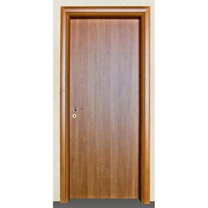 Immagine di Porta mara noce chiaro battente, reversibile, telaio piatto, accessori olv, 88x214 cm