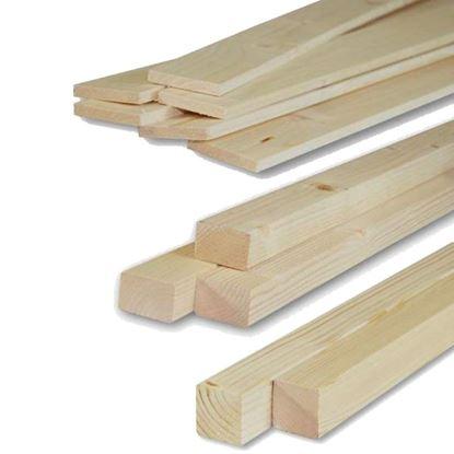 Immagine di Listelli abete,  piallati su 4 lati, 10x95x2000 mm