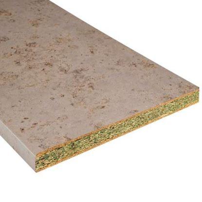 Immagine di Bordo preincollato, top cucina, marmo carrara, 610 x 42h mm