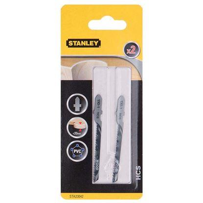 Immagine di 2 lame per tagli curvilinei, su legno, plastica, PVC, HCS, attacco a T, 76X2 mm