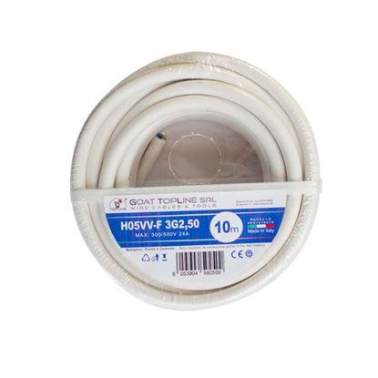 Immagine di Matassa cavo H05VV-F 3G2,50 mmq, 10mt, colore bianco
