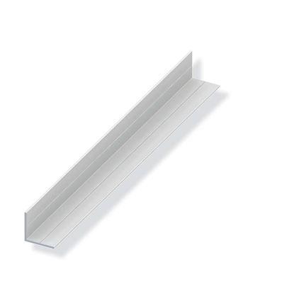 Immagine di Angolare, 11,5x1,5 PVC bianco 2,50 mt,  lati uguali