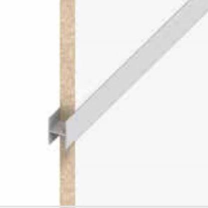 Immagine di Profilo a H clampline, alluminio argento, 1,00 mt,  6 mm
