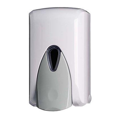 Immagine di Distributore di sapone liquido Wave ABS push anti-goccia a riempimento per tutti i saponi salvo microgranuli bco 0,5lt