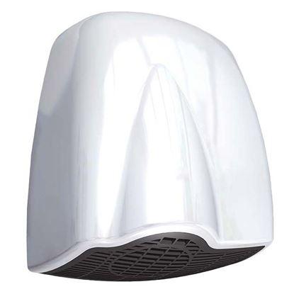 Immagine di Asciugamani a fotocellula Qibli, marcatura CE,  cover in ABS bianco, potenza totale 1850 W, potenza resistenza 1785 W