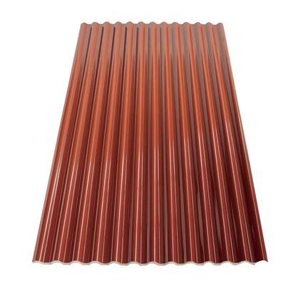 Immagine di Lastra Microcoibentata Ecoltherm 14, con strato coibente di EPS, colore rosso siena 200x110 cm