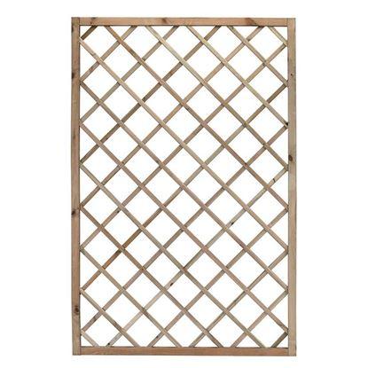 Immagine di Grigliato Promo, legno di conifera impregnato in autoclave, maglia diagonale 13x13 cm, 120x180 cm