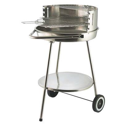 Barbecue tondo in acciaio cromato