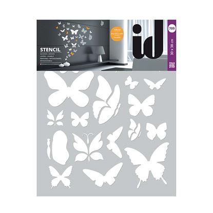 Immagine di Stencil 30x38, farfalle