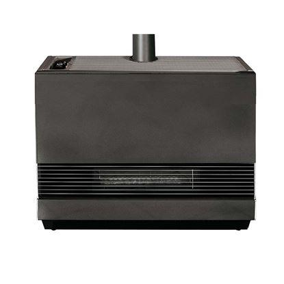 Immagine di Radiatore a gas 8 kW convezione naturale, volume riscaldabile 170 m³, accensione piezoelettrica, termostato, rendimento classe 1, Ø fumi 80 mm, 72x26xh72, colore antracite
