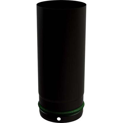 Immagine di Tubo smaltato per stufa a pellet, Ø 80 mm, colore nero, 25 cm