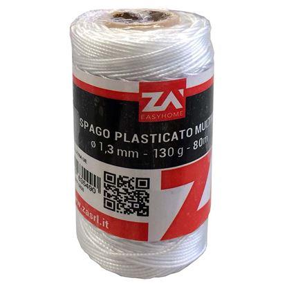 Immagine di Spago plastificato bianco, Ø 1,3 mm, 80 mt