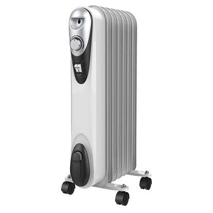 Immagine di Elettroradiatore 3 livelli potenza, 9 elementi ad olio, termostato ambiente regolabile con 4 ruote, maniglia integrata