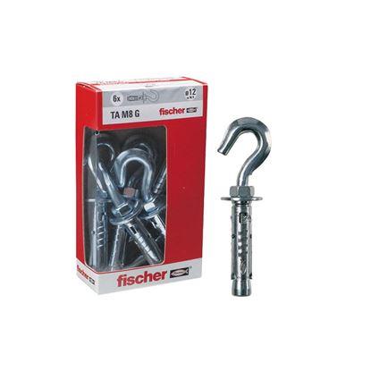 Immagine di Tasselli acciaio Fischer, tam 6 gy ø 10 mm, 6 pezzi, con gancio