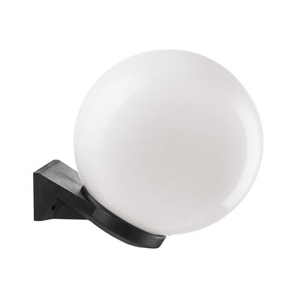 Immagine di Appliquea sfera Ø250 mm, base in plastica nera, opale