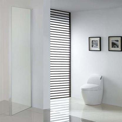 Immagine di Lato fisso Mila per porta doccia, profilo cromo lucido, cristallo trasparente, 6 mm, 70x195 cm
