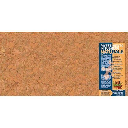 Immagine di Rivestimento in sughero, lastra 30x60 cm, spess.3 mm, aspetto marmoreo realizzato con fibre senza granuli, conf.5 pezzi