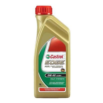 Immagine di Olio Castrol, Edge, SAE 0W-40, lubrificante sintetico, adatto per motori di elevata potenza specifica, 1 lt