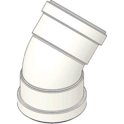 Immagine di Curva alluminio 45°, con guarnizione, FF Ø 80 mm