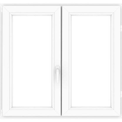 Immagine di Finestra pvc bianca 6 camere, 2 ante, battente, doppio vetro, 100x140 cm
