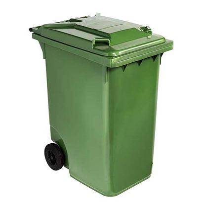 Immagine di Contenitore in plastica Contivia 2, 2 ruote 360 lt, verde